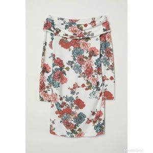 H&M Off the Shoulder Floral Maternity Top NWT